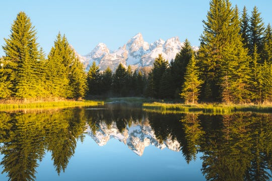 You won't have to wander far to see water or wildlife at Jenny Lake Campground, in Wyoming's Grand Teton National Park.