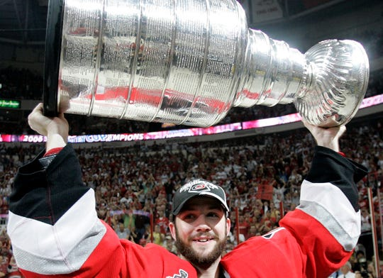 Goaltender Cam Ward won a Stanley Cup and the Conn Smythe Trophy as playoff MVP with the Carolina Hurricanes in 2006.