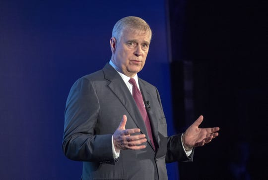 Prince Andrew, Duke of York, hosts an event for his initiative, Pitch@Palace, at Buckingham Palace on June 12, 2019.