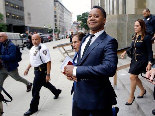 Cuba Gooding Jr. leaves criminal court in New York on June 13, 2019.