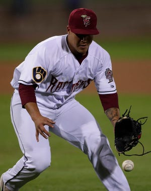 Victor Castaneda, who played for the Wisconsin Timber Rattlers in 2019, is one of 13 players who will be returning to the Timber Rattlers from the 2019 roster.
