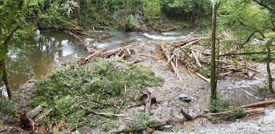 Hazards created by recent landslides into the Nantahala River within the Nantahala Gorge led the Forest Service to suspend all commercial rafting and kayaking operations as of Aug. 28.