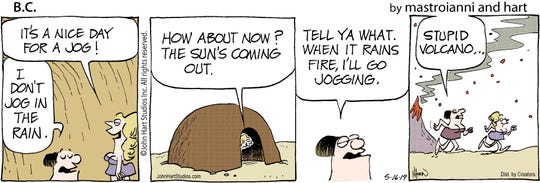 A recent B.C. strip featuring the Fat Broad and the Cute Chick, now known as Jane and Grace.