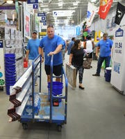 Dave Hock was purchasing storm shutters, and other supplies. Brevard prepares for the approach of Hurricane Dorian, as shoppers at Lowe's Home Improvement store in Rockledge load up on water, plywood, and generators, which had sold out but a new shipment was on the way.