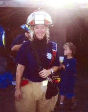 Undated photo  Brandy Hall,       missing firefighter