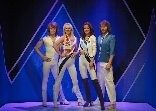 Life-size figures of Benny, Bjorn, Agnetha and Frida are on display at ABBA The Museum.