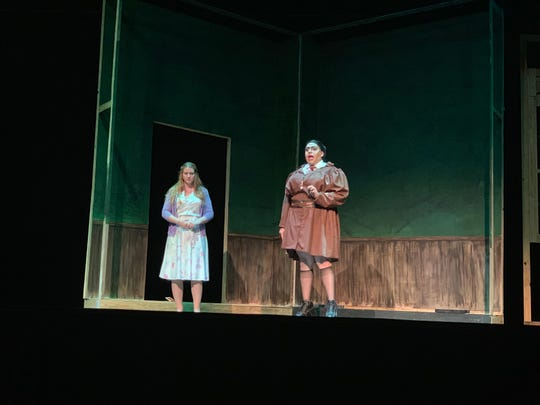 "Frank Garcia Jr. (right) will star as Miss Agatha Trunchbull in ""Matilda"" the musical at the Harbor Playhouse. The show will premiere Friday, Aug. 30 and will run through Oct. 6."