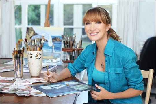 Actress and artist Jane Seymour will exhibit her work at Ocean Galleries in Stone Harbor over Labor Day weekend.