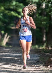 Zane Trace's Hannah Kerr took first place at the 2019 Huntington Invitational with a time of 22:58.45 on Wednesday, August 28, 2019, at the  Hopkins Farm in Huntington Township.