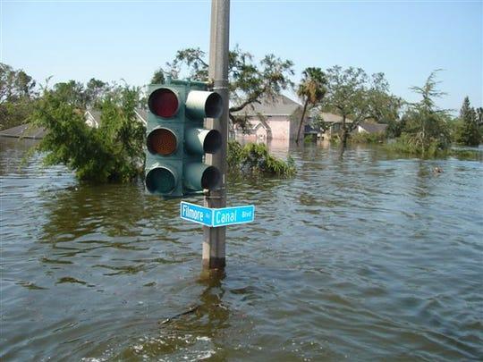 Flooding after Hurricane Katrina hit Louisiana in 2005.