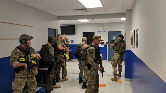 On Friday, Aug. 23, Thomas Edison EnergySmart Charter School in the Somerset section of Franklin Township, was utilized by the Somerset County S.W.A.T Team and Negotiators as well as the Somerset County Office of Emergency Management (OEM) for their monthly Active Shooter Training drill.