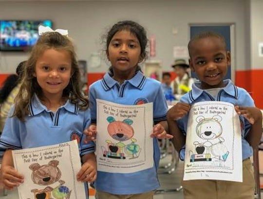 Thomas Edison Energy Smart Charter School kindergarten first day of school.