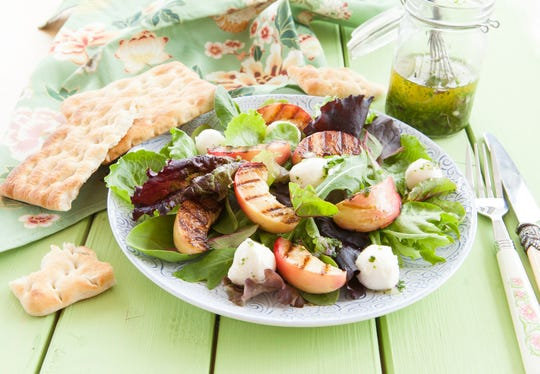 Try this California marinated salad with nectarines before summer comes to an end.