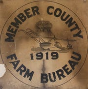 Coshocton County member county emblem for the Ohio Farm Bureau from 1919.