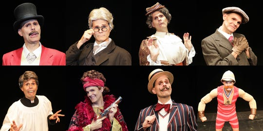 """Brett Spahr plays all eight D'Ysquith heirs in """"A Gentleman's Guide to Love and Murder,""""  scheduled to run Sept. 6-29 at the Des Moines Playhouse."""