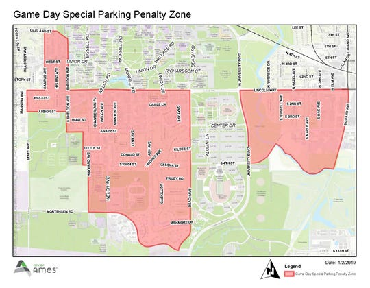 Fines for illegal parking will increase from $20 to $40 in specific areas during Iowa State football games to prevent rampant illegal parking seen in past years.