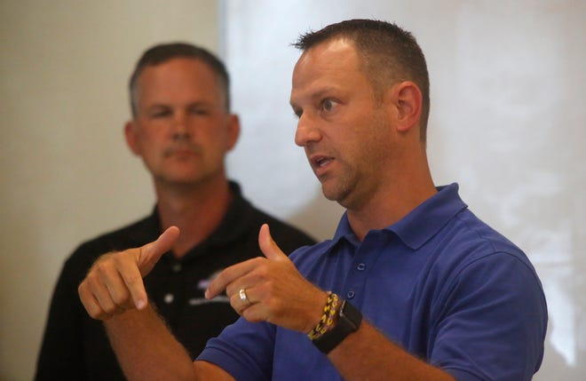 Indianola City Manager Ryan Waller, right, confirmed an Indianola police officer has been diagnosed with COVID-19.