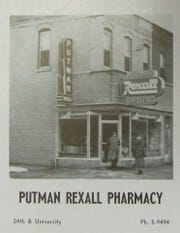 The Putman Rexall Pharmacy operated at 2331 University Ave. for several decades.