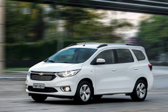 Chevrolet Spin is a multi-purpose vehicle sold in Brazil.