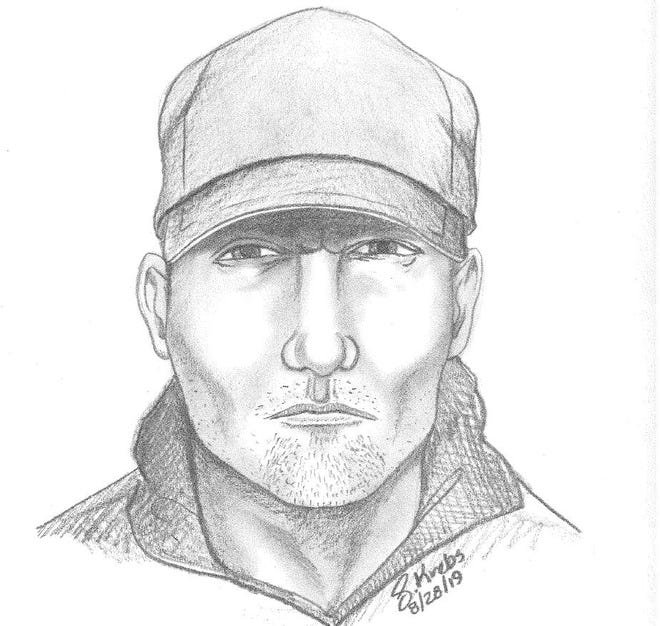 Chesterfield Police Thursday released a sketch of a man wanted for robbing the clerk of a Claire's fashion jewelry store Monday.
