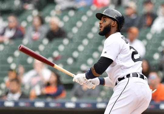 The Tigers' Niko Goodrum is on the injured list with an adductor strain.