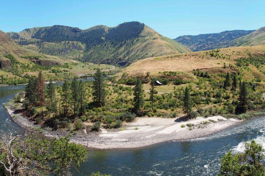 An overview of the Cooper's Ferry canyon in western Idaho.