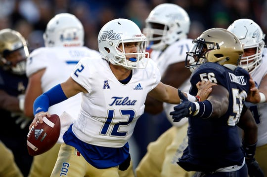 Seth Boomer is one of two quarterbacks vying to start for Tulsa.