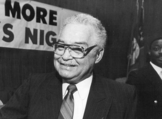 FILE -- Detroit Mayor Coleman Young in 1987.