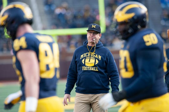 Jim Harbaugh and the Wolverines will unveil their new offense on Saturday night against Middle Tennessee State.