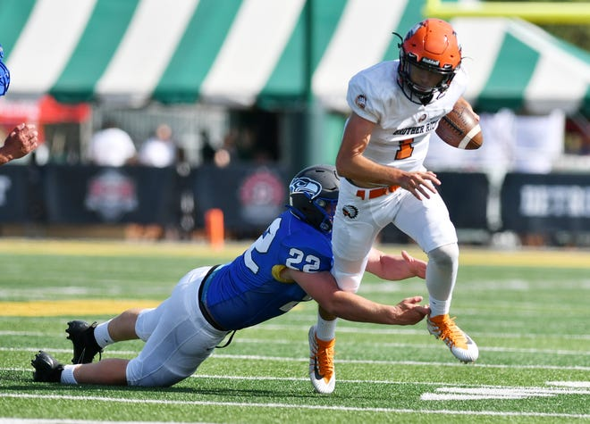 Greg Piscopink and Brother Rice face a tough test in Catholic Central this weekend.
