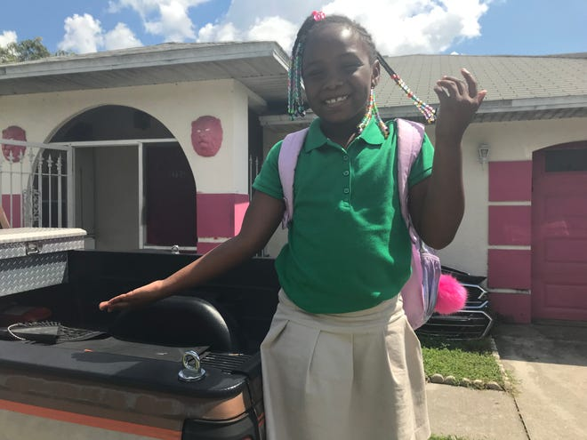 A'niyah Greene, 6, was dropped off over a mile away from her scheduled school bus stop Tuesday. Although she said she was never scared, her Fort Myers family wants to keep the first-grader off the bus.