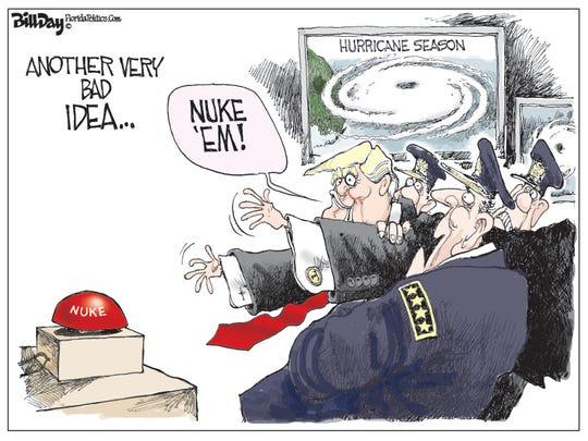 """Trump on hurricanes: """"Nuke 'em."""""""