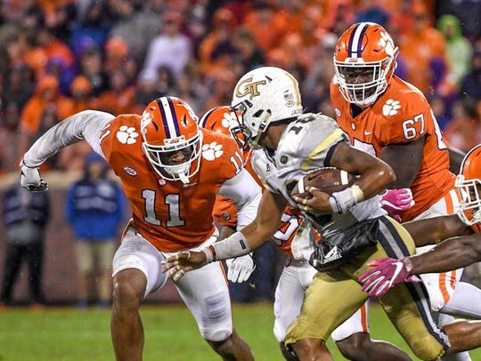 Clemson has defeated Georgia Tech by an average margin of 20 points over their last four meetings.