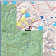 The black outline shows the 442 acres of Dan Barrett property that was sold to the Rocky Mountain Elk Foundation and then conveyed to the U.S. Forest Service, providing the public access to that land in addition to 26,000 acres in Helena-Lewis and Clark National Forest.