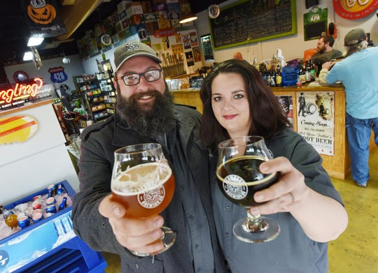 Kenny and Carrie Mann own Slowboat Brewing Company in Laurel.
