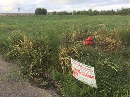 This photo, taken behind Henderson's Walmart at the end of Barret Boulevard, shows a portion of the property being proposed for Cedarhurst Senior Living. A hearing on rezoning of part of the property is set for Tuesday, Sept. 3.
