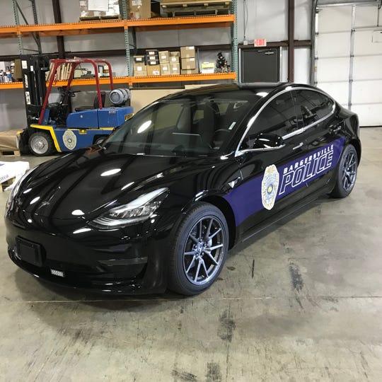 The Bargersville Police Department's 2019 Tesla Model 3.