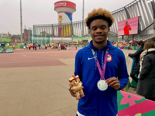 Noah Malone of Hamilton Southeastern competed in the Parapan American Games in Peru. Aug. 28, 2019