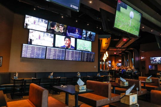 A newly renovated TV wall will greet guests inside Hops House bar and restaurant at Hollywood Casino & Hotel in Lawrenceburg, Ind., on Thursday.