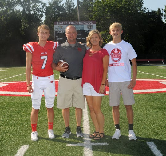 The Cummings family: Caden, Scott, Amy and Connor.