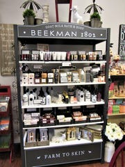 Goat milk bath and body soaps, lotions and sugar scrubs from Beekman 1802 are featured at CH Interiors in Farragut.