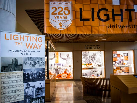 "An exhibit named ""Lighting the Way"" with archived items from the University of Tennessee is on display at Hodges Library on campus on Monday, August 26, 2019."