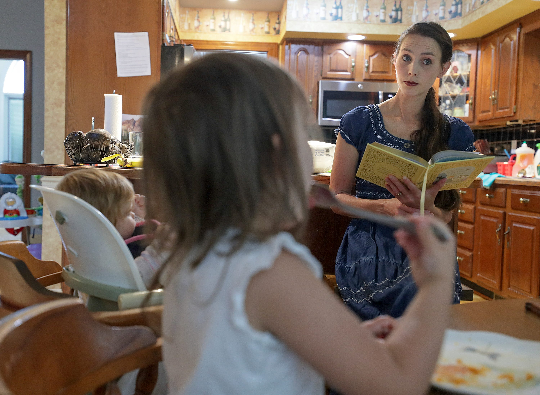 "Rachael Denhollander reads ""Anne of Green Gables"" to her children."