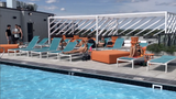 Take a tour of the Hub on Campus rooftop including the pool and the views of Michigan State University and East Lansing.