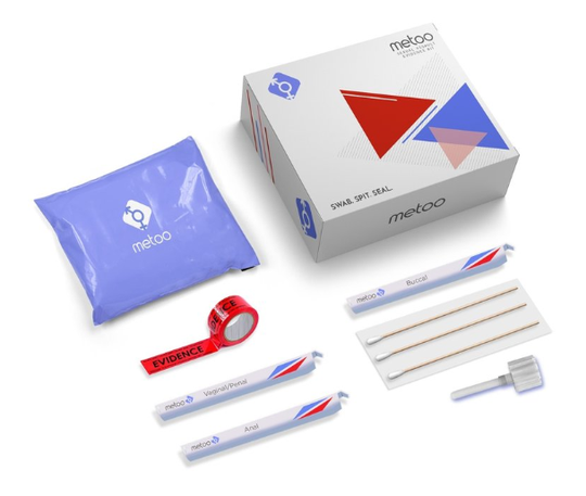 "New-York based MeToo markets this kit as the ""first ever sexual assault evidence kit for at-home use."""