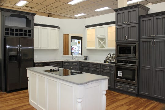 Inside Braun Building Center's newly remodeled Kitchen and Bath Design Center.