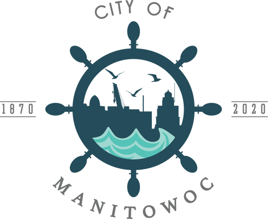 City of Manitowoc's 150th anniversary logo