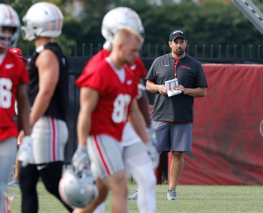 Ryan Day, whose game face for Saturday's opener included shaving his facial hair, is set to make his debut as Ohio State's full-time head football coach.