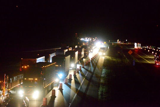 All lanes of northbound traffic on Interstate 71 were blocked for four hours Wednesday night following a crash at 9:04 at mile marker 173.