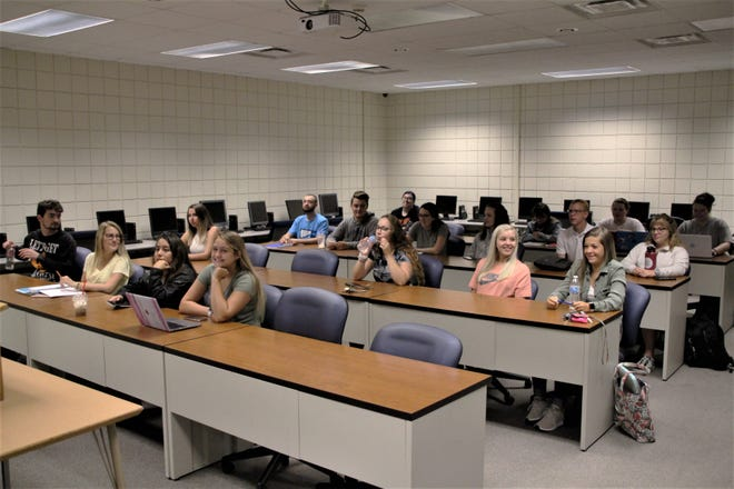 Students attending class at Marion Technical College in 2019.